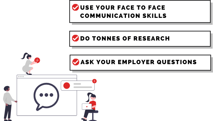 The best 3 tips for your first face-to-face interview!